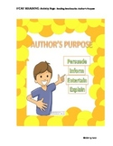 Reading: AUTHOR'S PURPOSE
