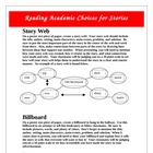 Reading Academic Choice Comprehension Projects Activities