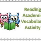 Reading Academic Vocabulary Review Activity FREEBIE
