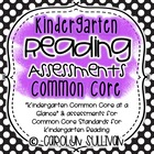 Reading Assessments for Common Core Standards Kindergarten