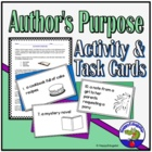 Reading - Author's Purpose Activity Handout
