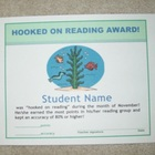 "Reading Award - ""Hooked On Reading"""