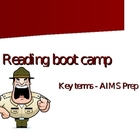 Reading Boot Camp! Key Terms for AIMS - Main Idea, Details