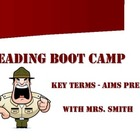 Reading Boot Camp! Key Terms for AIMS PDF - Main Idea, Det
