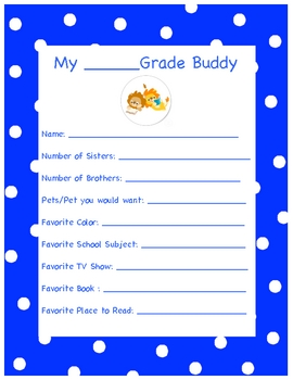 Reading Buddy intro Questionnaire