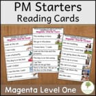 Reading Cards to support PM Starters Emergent Readers