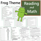 Reading Center  Packet Frog Theme