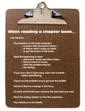 Reading: Chapter Book Strategies Reminder Poster