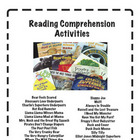 Reading Comprehension Activities for 25 favorite books