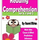 Reading Comprehension Activities for K, 1 and 2!