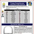 Reading Comprehension Activity +Text Messages for any nove