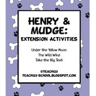 Reading Comprehension: Henry and Mudge Extension Activities