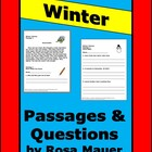 Reading Comprehension Original Probes Winter Theme