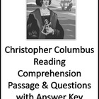 Reading Comprehension Passage with Questions Christopher Columbus