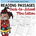 Reading Comprehension Passages {Back to School & Common Core}