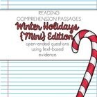 Reading Comprehension Passages {Christmas Holiday Themed &