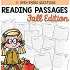 Reading Comprehension Passages {Fall Themed and Common Core}