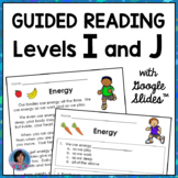 Reading Comprehension Passages for Guided Reading Levels I and J