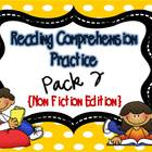 Reading Comprehension Practice Pack 2 {Non-Fiction Edition}