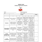 Reading Comprehension Rubric