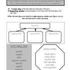Reading Comprehension Skill Sheets:  Advance/Graphic Organizer