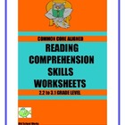 Common Core Aligned Reading Comprehension Worksheets  Set 2
