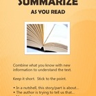 Reading Comprehension Strategies: Summarize Poster
