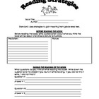 Reading Comprehension Strategy Sheet