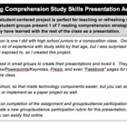 Reading Comprehension Study Skills Presentation Activity