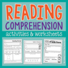 Reading Comprehension Worksheets &amp; Activities
