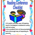 Reading Conference Checklist Bookmark