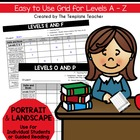 Reading Conference Notes - Note Taking Grid - Levels A - P