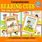 Reading Cues For You To Use!- Comprehensions Posters