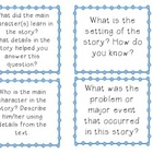 Reading Fiction Discussion Cards Common Core Aligned