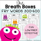 Reading Fluency: One Breath Boxes for Fry Words 300-600