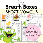 Reading Fluency with One Breath Boxes - Short Vowels Set