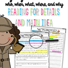 Reading For Details and Main Idea (Highlighting  Who, When