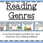 Reading Genres: 10 Horizontal Posters
