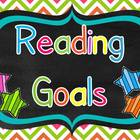 Reading Goals Chart with Editable Pages.