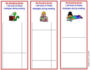 Reading Goals/ Strategies Bookmark