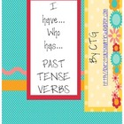 Reading - I Have...Who Has...PAST TENSE VERBS Game