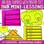 Reading Interactive Notebook with Mini Lessons - All 5th G
