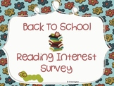 Reading Interest Survey...Kid Friendly!