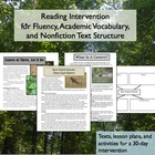 Reading Intervention for Academic Vocabulary and Fluency Part 2