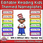 Reading Kids Themed Nameplate/Deskplate/Nametags