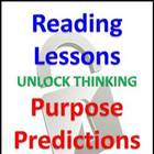 Reading Lessons - Purpose for Reading, Predictions, & Questioning