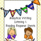 Reading & Listening Center Response Sheets: Analytical Writing