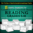 Reading Literature Graphic Organizers Common Core Standard