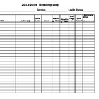 Reading Log & Summary Sheet - Log