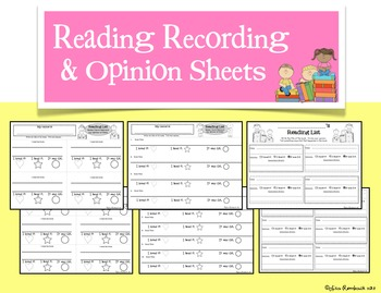 Reading Log and Opinion Recording Sheet